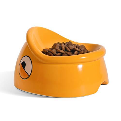 ComSaf Katzennapf 15 ° Neigung Futternapf, 180ml Keramik rutschfeste Fressnapf Haustier Futter und Wasser Napf Nicht Verschüttet, Futterschale Reduzieren Sie Nacken Schmerzen für Katzen und Hunde