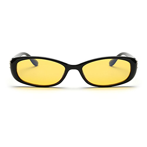 LOMOL Womens Fashion Cute Oval Anti-Blue Light Radiation Protection Night Vision Small Driving Sunglasses(C1)