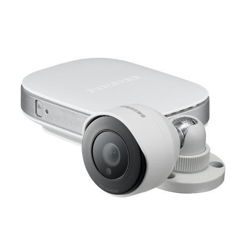 Samsung IP-Cam SNH-E6440BN Videocamera di Sorveglianza, Outdoor Camera e Repeater, Bianco