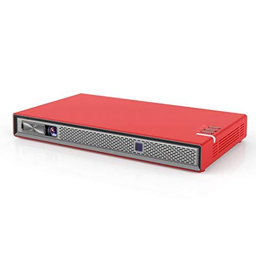 Proyector LIU, Teléfono Mini DLP móvil con la Misma Pantalla 3D WiFi Home HD 4K, la resolución 854 * 480dpi (Color : C)