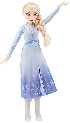 Disney Frozen Singing Elsa Fashion Doll with Music Wearing Blue Dress Inspired 2, Toy For Kids 3 Years and Up