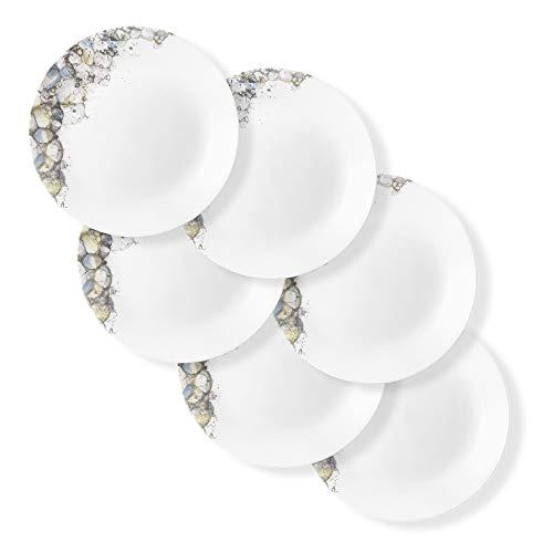 Corelle Chip Resistant Dinner Plates, 6-Piece, Lumos