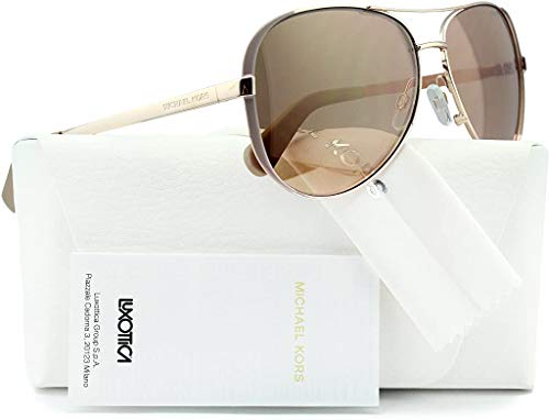 100 % Authentic - Michael Kors Rose Gold w/Gold Mirror Lens Non-Polarized Color Code: MK5004 1017/R1 Size: 59mm