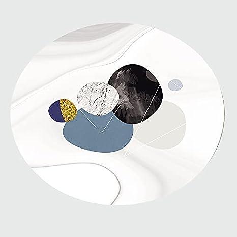QYQS Alfombra Silla Ruedas Antideslizante Silla De Oficina Mats Redondo Plástico Plástico De Escritorio Pueblo De Plaza De Plaza De Bajo 1.5mm / 0.06 Pulgadas De Escritorio Grueso(Size:80cm/31.5inch)