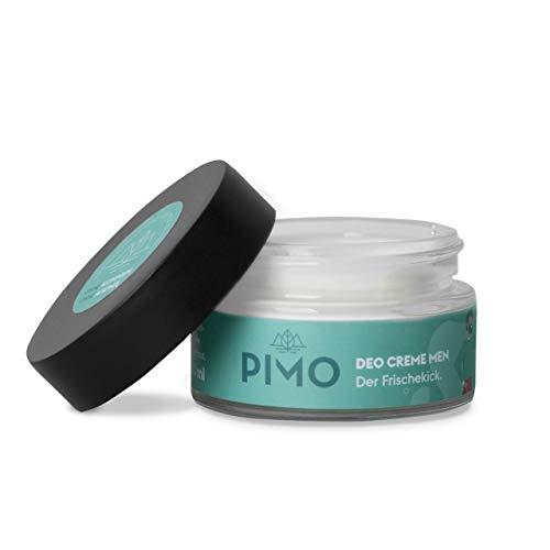PIMO Deocreme - ohne Aluminium - ohne Alkohol - 100% Schutz - Kakaobutter - Mandelöl - Sheabutter - Vegan - 50 ml - Glastiegel - Handmade - Hergestellt in Österreich