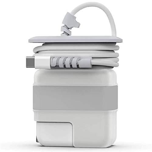 Organizador Viaje para Cargador Apple MacBook Air, Cable de Carga, Protectora Caja Compatible con Apple Magsafe 30W 29W Cargador Accesorios para MacBook Air 12 13 Pulgadas (Silver)