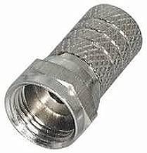 Kabel Ø 8,2 mm 20mm mit breiter Mutter vergoldet f 50 x F Stecker 8,2mm Länge
