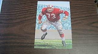 1992 Leo Nomellini goal line art card San Francisco 49ers