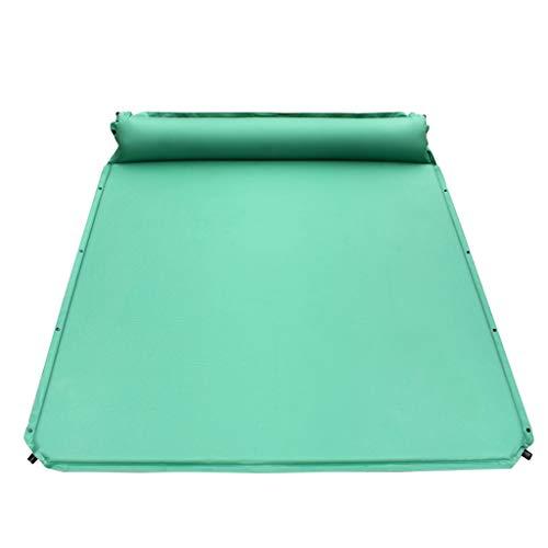 Sleeping Mats Outdoor Camping Mat With Ultra Light Pillow Portable Single Mattress 2 Person Air Mattress Double (Color : Green)