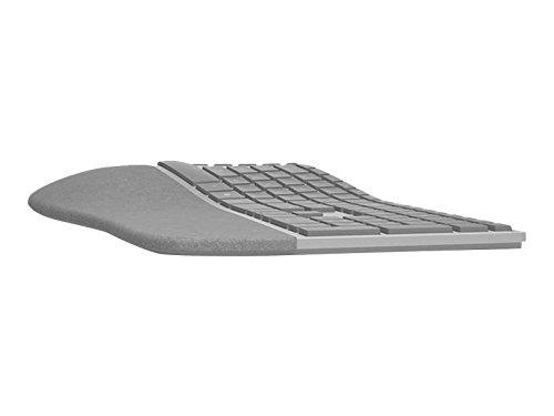 Microsoft Surface Ergonomic Bluetooth grau Tastatur–Tastaturen (Bluetooth, Universal, kabellos, PC/Server, Standard, gebogener)
