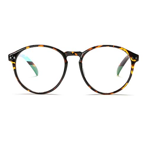 YUNCAT Hornbrille Atzenbrille Nerd Brille Klar Brille Nerdbrille in verschiedenen Farben, Bernstein, Einheitsgröße