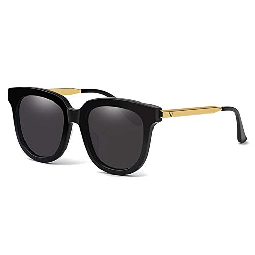 LDH Gafas de Sol polarizadas Retro Gafas de Sol Polarizadas para Hombres Y Mujeres, Placas Metálicas Personalizadas Al Aire Libre Senderismo UVA Y Protección UVB (Color : A, Size : Large)