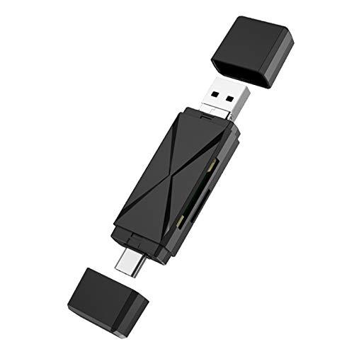 Wivarra Lector de Tarjetas OTG Lector de Tarjetas - / / USB Lector de Tarjetas de TeléFono MóVil TF Lector de Tarjetas Multifuncional 2.0 de Alta Velocidad