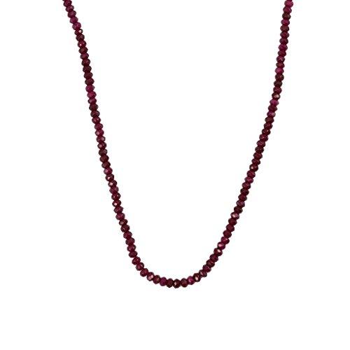 SM SunniMix Rondelle de Piedras Preciosas de Rubí Rojo Facetado Natural de 2x4 Mm