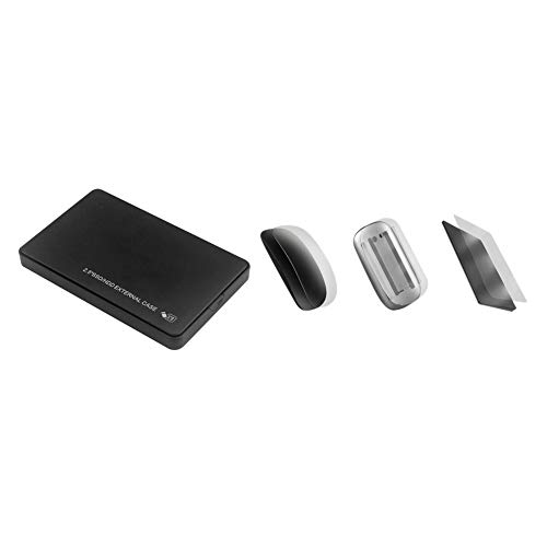 Nrpfell 1 Set HDD Enclosure 2.5 Inch USB3.0 Hard Disk Box External Case & 1 Set Mouse Skin Mouse Cover