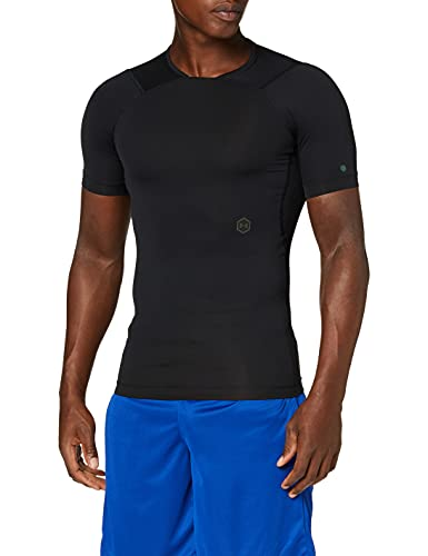 Under Armour UA Rush Camiseta, Hombre, Negro (Black/Black 001), S