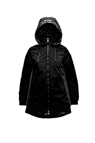 HOX Jacke Damen Xd 4105 Daunenjacke 8020 Schwarz Farbe Carbon mit Kapuze Gr. XS