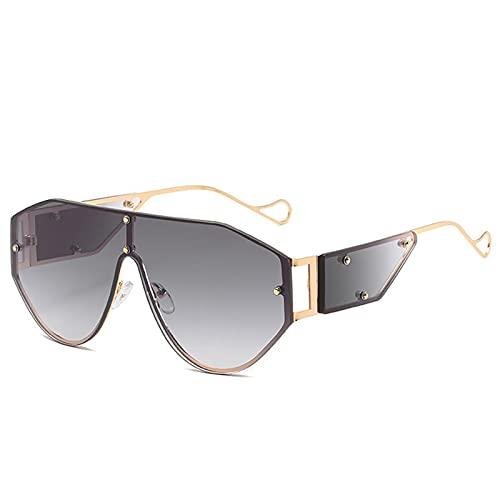 AMFG Gafas de sol polarizadas EUROPEAS Y AMERICANAS SPORTS TOAD MARCO Gafas de sol Retro Viajes Fotografía Ancla Gafas de sol al aire libre (Color : B)