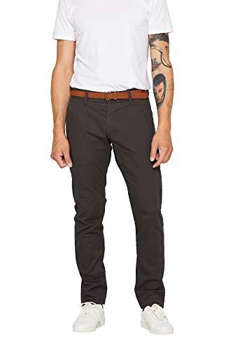 ESPRIT Herren Essential Chino Hose, 020/DARK Grey, 01/19, 32W / 32L