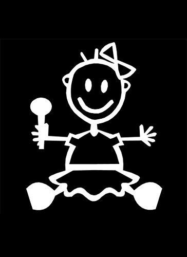 My Stick Figure Family Familie Autoaufkleber Aufkleber sticker decal Baby Mädchen BG1