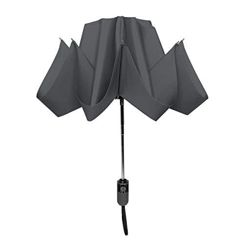 ShedRain Auto Open and Reverse Closing Compact UnbelievaBrella Umbrella, Charcoal