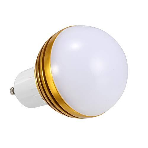 GYGUYHIHY Bombilla Inteligente Bombillas LED WiFi Compatible con Amazon Alexa Echo Google Home Y IFTTT E27/GU10 7W Equivalente 60W No Se Requiere Hub Luz Blanca Cálida Regulable 600LM,Gold,GU10