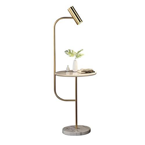 Lampes de chevet Lampadaire Salon Canapé Chambre Simple Américain Moderne Table Basse Marbre Vertical Lampe De Table (Color : Gold, Size : 42 * 150cm)