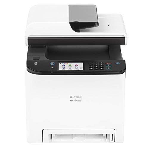 Ricoh M C250FWB Digital Color Multifunction Laser Printer, 25 Color ppm, 600x600 dpi, Standard 250 Sheets Input Tray - Print, Copy, Scan, Fax