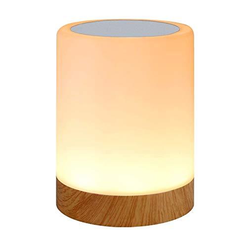 LED Nachttischlampe, Touch Dimmbar Atmosphäre Tischlampe für Schlafzimmer Wohnzimmer, Tragbar Nachtlicht mit 16 Farben und Warmes Weißes Farbwechsel -EINWEG