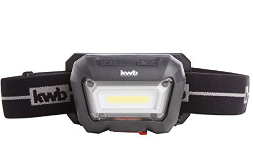 kwb Akku Kopf-Leuchte mit Bewegungs-Sensor ( Ein/ Aus) COB LED Technik, 1500 mAh Li-Ion Batterie, ANSI FL 1 - Standard, Lampe mit 2 Leucht-Modi