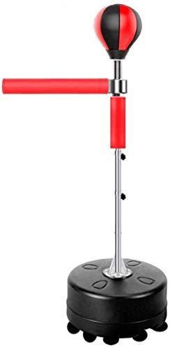 Unabhängige Schwere Boxsack mit Ständern 360 ° Reflex Bar, Adjustable Speed Ball Box für Erwachsene und Kinder, Stark Saugfuß, bewegliches Spinning Bar,Rot