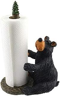 Wilcor Willie Black Bear Sitting Paper Towel Holder