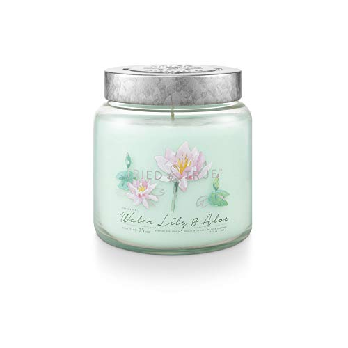 Tried & True Water Lily & Aloe, 15.5 oz. Candle, Blue