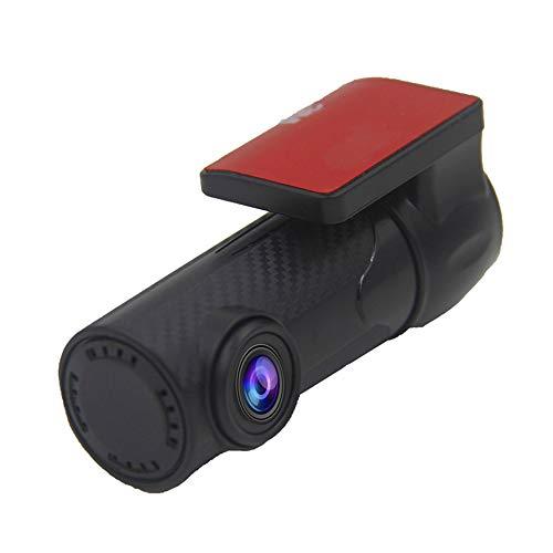 Mini grabadora de conducción de automóviles, monitoreo de automóviles WiFi HD, no hay cámara de panel de pantalla, 1080p HD de 170 grados de gran angular, DVR del automóvil, lente se puede girar 360 g
