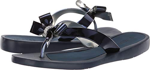 GUESS Women's Tutu Flip-Flop, Navy 1, Size 5.0