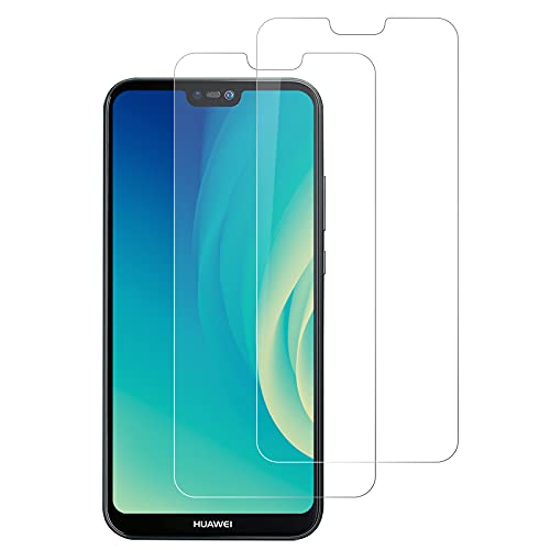 DOSMUNG[2 Stück Panzerglas kompatibel mit Huawei P20 Lite, Schutzfolie für Huawei P20 Lite - Anti-Kratzer, Anti-Öl, Anti-Bläschen, HD Panzerglasfolie für Huawei P20 Lite