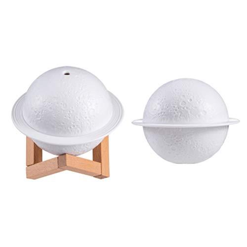 YSSClOTH Humidificador de lámpara de Luna, difusor de humidificador de luz LED Planet, Mini humidificador de bajo Ruido para el Dormitorio de la Oficina en casa