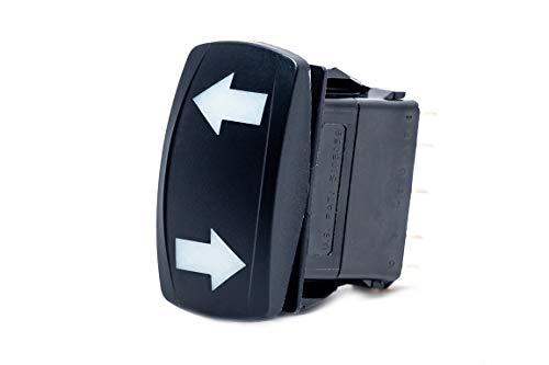 UTV INC Dual Blue LED Back Lit DPDT On/Off/On Vertical Turn Signal Switch