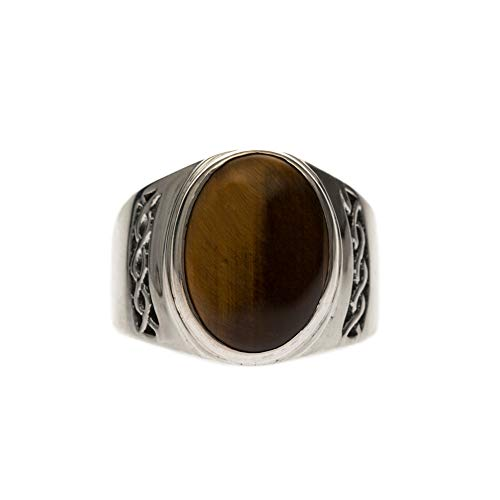 Orus Men's Ring with Tiger's Eye Design Silver