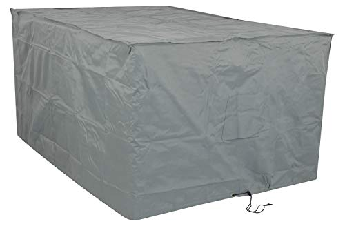 Woodside Heavy Duty Waterproof Rattan Furniture Set Cover Outdoor Garden Rain Cover, Grey, L: 175cm x W: 115cm x H: 74cm, 5 YEAR GUARANTEE
