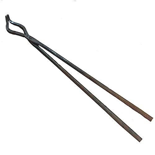 Tenaza de forja Pinzas de herrero Pinzas de herrero de nariz curva Yunque tornillo de banco 42cm 320g Tenaza de forja para Engineer Blacksmith Forge