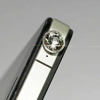 スワロフスキー風 ラインストーン  イヤホンジャック アクセサリー ピアス  ( スマホピアス スマピ スマートフォン ピアス スマートジャック アイフォン(iphone)にも対応) 1001 (クリスタル)