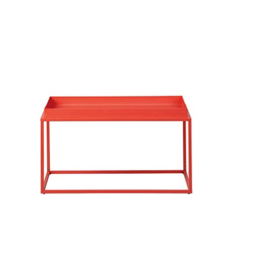 Paris Prix - Table Basse Design en Métal eza 80cm Orange