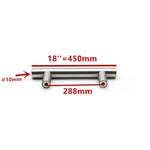 LZWOZ 50mm-500mm Stainless Steel Kitchen Door het Kabinet T Bar Handle trekknop kabinet knoppen meubilair handvat kast ladehandvat (Color : 18 inch 288mm)