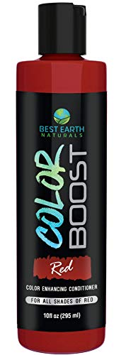 Color Boost Red Color Depositing Conditioner For All Shades of Red Hair to Add Red Temporary Hair Color For Women and Men By Best Earth Naturals 10 Ounces