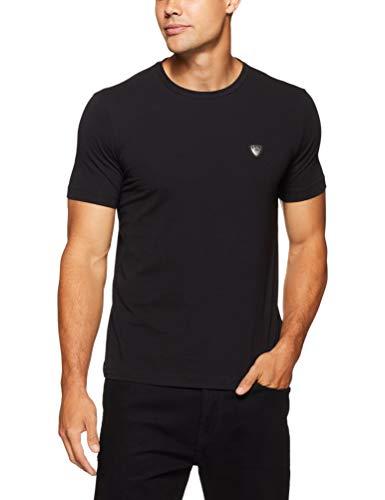 Emporio Armani Core Shield tee Camiseta, Negro, XXL para Hombre