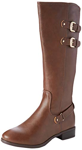 Dorothy Perkins Kiki Bellows Riding Boot, Bottes Cavalières Femme Marron (Chocolate 530) 36 EU (taille fabricant 3)