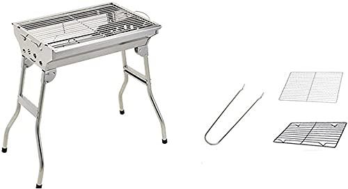 Mini parrilla de acero inoxidable al aire libre, herramienta de parrilla de carbón para el hogar, parrilla de estufa pequeña al aire libre, juego completo de herramientas de parrilla de carbón-1