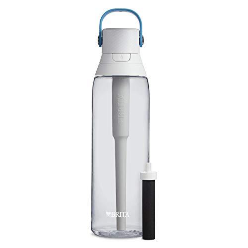 Brita Premium Filtering Water Bottle, 26 Ounce, Clear