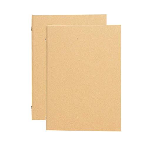 Carpeta de anillas, 2 unidad, Carpeta forrada, 4 anillas, 240mm*315mm, Archivador de anillas DIN A4, para cuaderno de dibujo, carpeta de papel kraft multifunción, cubierta de bricolaje
